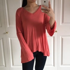 Jessica Simpson - Coral With Bell Sleeves Blouse